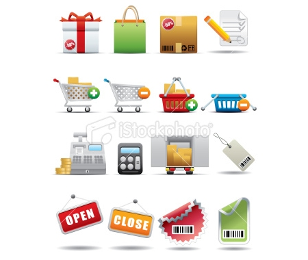 Shopping and Consumerism Icon Set