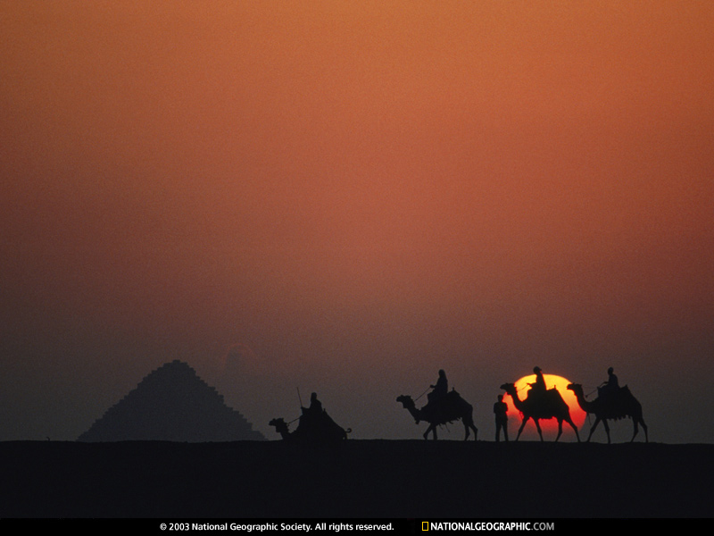 Desert Sunset, Giza, Egypt, 1981