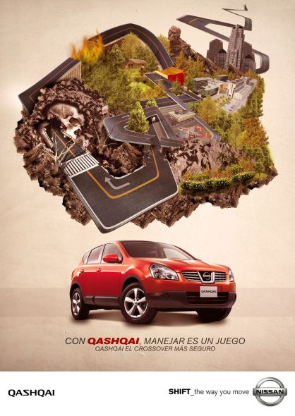 Nissan Qashqai 35+ Creative advertising For Creative Peoples