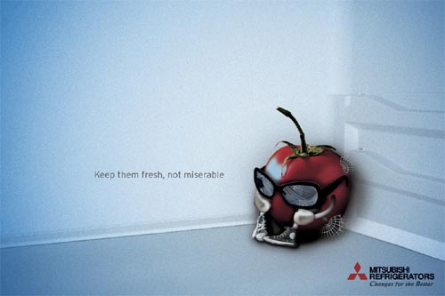 mitsubishi refrigerators 35+ Creative advertising For Creative  Peoples