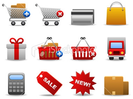 shopping icon set 22 Stunning Free Download E Commerce Icon Sets