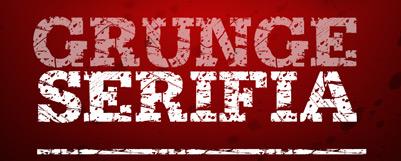 14 grunge serifia grunge font 21 Clean Free Grunge Fonts for Web Designers
