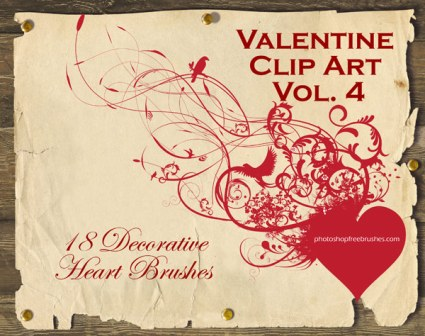18 Decorative Heart PS Brushes by bestdesignoptions 40 Absolutely Beautiful Valentine Day Wallpaper for Your Desktop