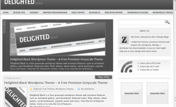 Delighted Black WordPress Theme 20+ Free Premium WordPress Themes of January 2010
