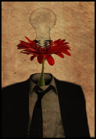 Flowerman has an idea by meandios 30 Unbelievable and Conceptual  Surreal Dark Artworks