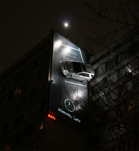 Mercedes Advertisement 25 Creative Advertising on Building