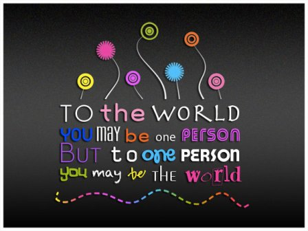 To the World by jfender24 45 Free Inspiring High Quality  Typography Wallpapers