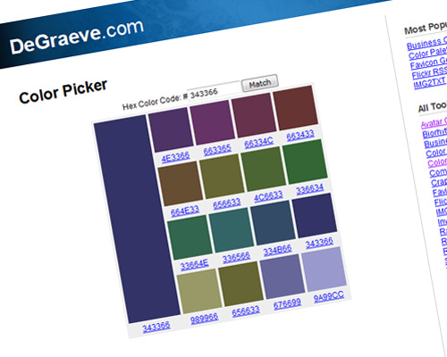 color selector tool 15 20 Best Color Tools For Web Designers