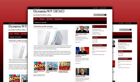 dynamicRed 20+ Free Premium WordPress Themes of January 2010