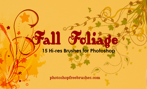 fall foliage 1 50+ Fresh Designs Photoshop Brushes released in January
