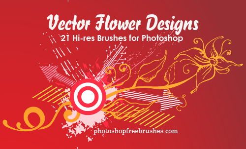 flower designs 1 50+ Fresh Designs Photoshop Brushes released in January