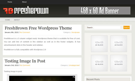freshbrown 20+ Free Premium WordPress Themes of January 2010