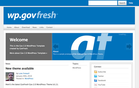 gov2 20+ Free Premium WordPress Themes of January 2010