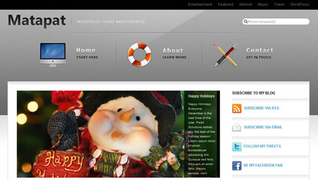 matapat 20+ Free Premium WordPress Themes of January 2010