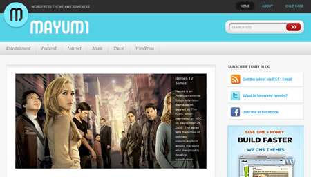 mayumi 20+ Free Premium WordPress Themes of January 2010