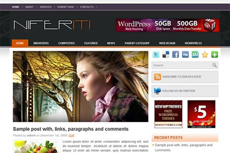 niferiti 20+ Free Premium WordPress Themes of January 2010