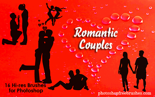 romantic couples 1 50+ Fresh Designs Photoshop Brushes released in January