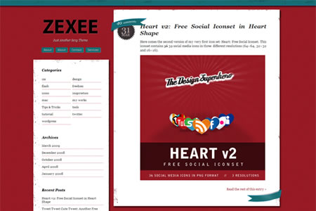 zexee 20+ Free Premium WordPress Themes of January 2010
