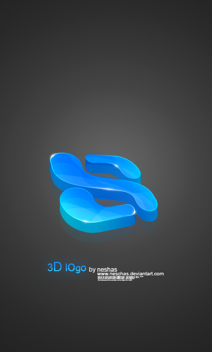 3D logo by neschas 27 Creative 3D Concepts Logos From DeviantArt Gallery