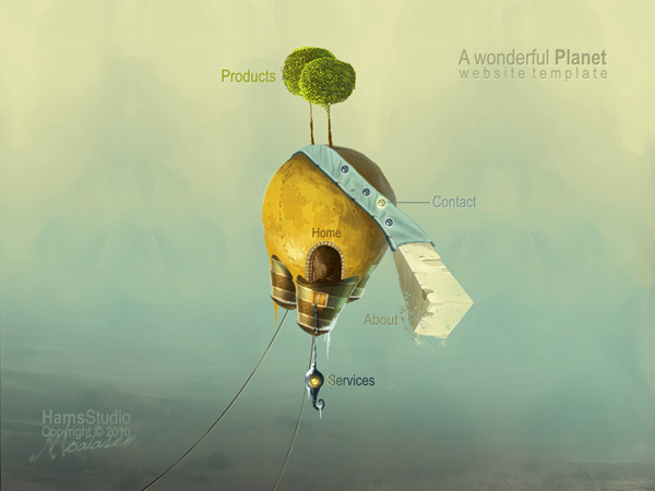 A wonderful Planet by HamsAljofoon Fresh Examples of Web Design and Interfaces