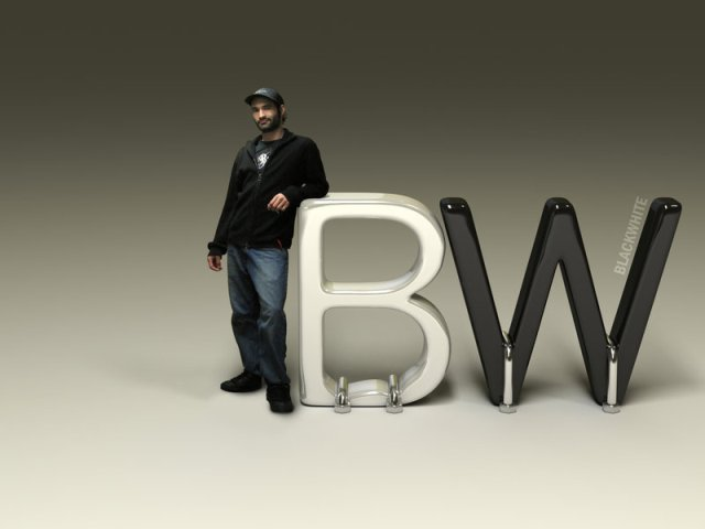 BlackWhite Logo   3D by BlackWhiteRS 27 Creative 3D Concepts Logos<br /> From DeviantArt Gallery