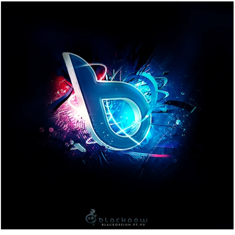 Black Design   3D Logo by Blackdow 27 Creative 3D Concepts Logos From DeviantArt Gallery