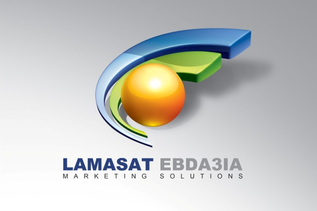 Lamasat Ebda3ia logo 2 by AnubisGraph1 27 Creative 3D Concepts Logos From DeviantArt Gallery