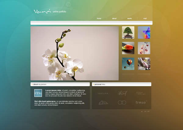 Web Design6 Fresh Examples of Web Design and Interfaces
