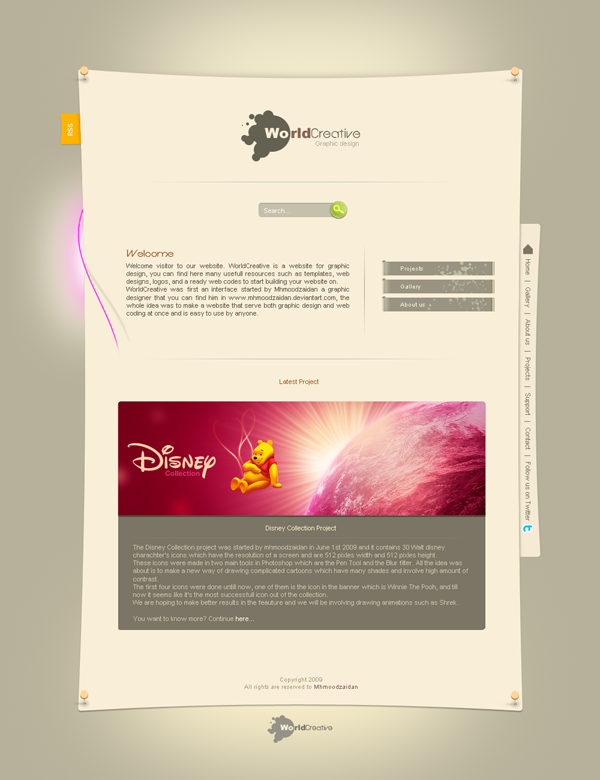 World Creative by mhmoodzaidan Fresh Examples of Web Design and Interfaces
