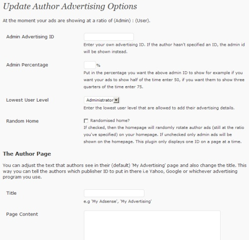 author advertising plugin 10 WordPress Plugins To Manage Your Ads<br /> Banners