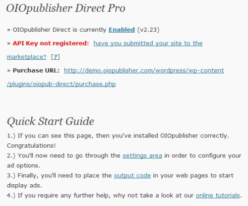 oio publisher 10 WordPress Plugins To Manage Your Ads Banners