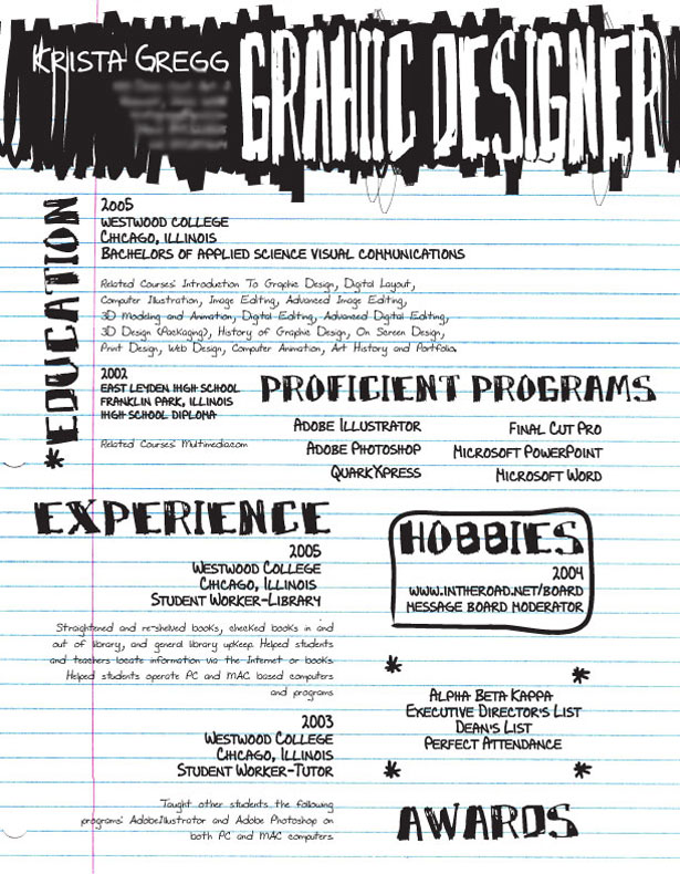 Creative Résumés 2 30+ Striking and Creative Resumes