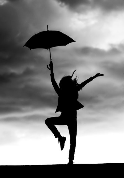 Dance In The Rain by Marinshe Truly Amazing Examples of Silhouette Photography