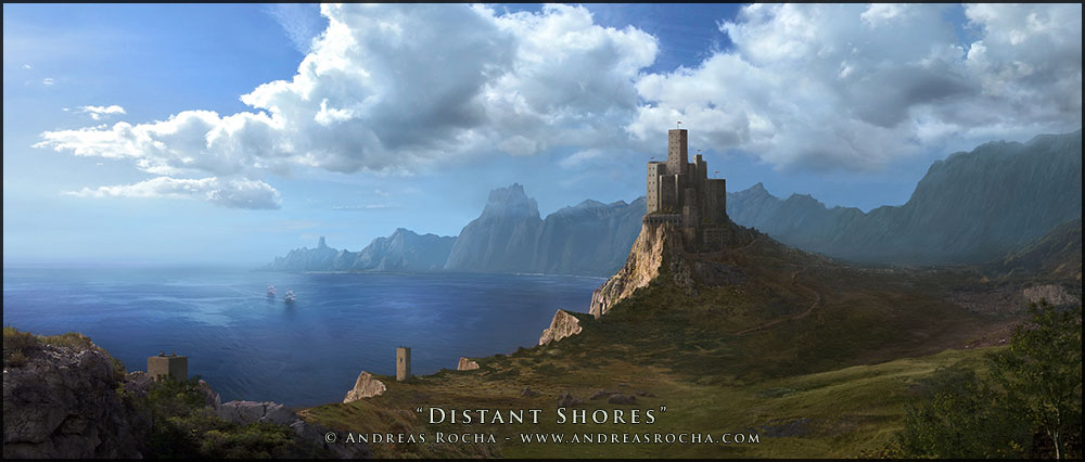 distant shores matte painting 27 Matte Painting Tutorials for<br /> Adobe Photoshop