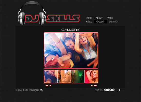 djskills 20 Original Solutions for a Musician's Flash Website