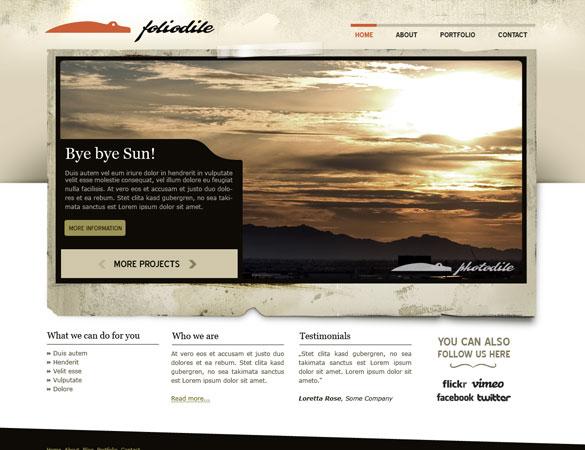 foliodile psd Free Professional PSD Web Templates