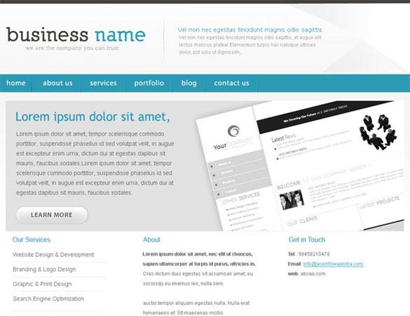 free portfolio template Free Professional PSD Web Templates