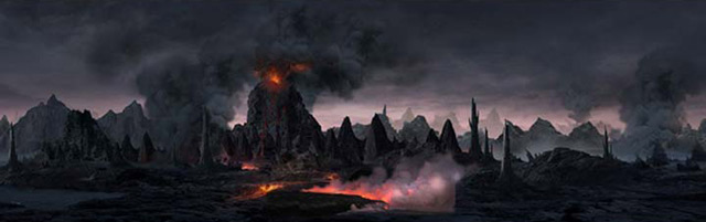 vulcano scene tutorial 27 Matte Painting Tutorials for Adobe<br /> Photoshop