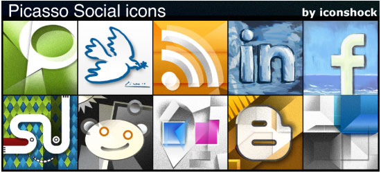 23 01 picasso social media ld img 30 Free Social Media Icon Sets For Bloggers