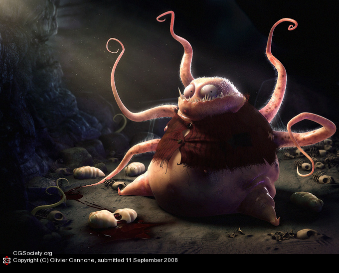 Day of the tentacles Olivier Cannone 3D Amazing 3D CG Character Models