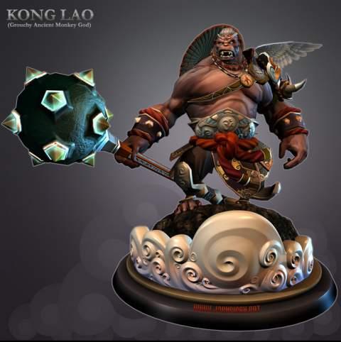 Kong Lau Dominance War III Entry Josh Singh 3D Amazing 3D CG Character Models