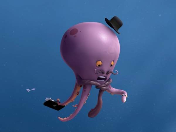 Mr Octopus is Late by Vincent Guibert Amazing 3D CG Character Models