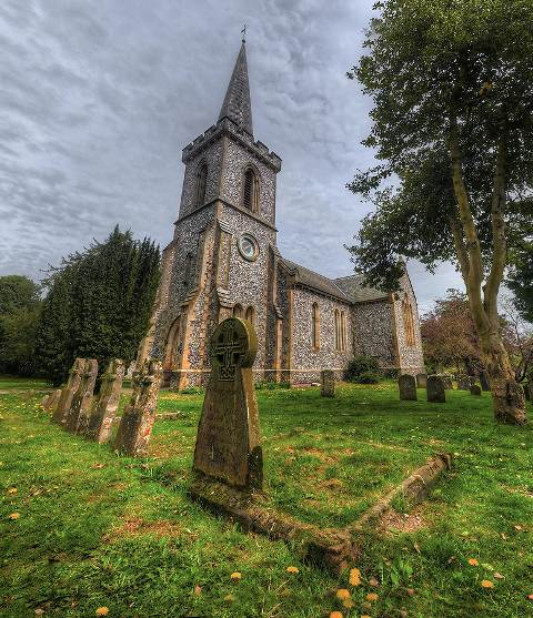 Stanmer Church by wreck photography 45 Fantastic HDR Pictures
