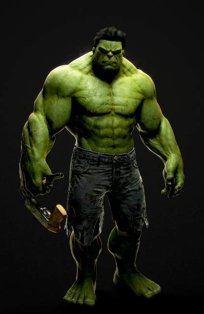 The Incredible Hulk Jonas Thornqvist 3D Amazing 3D CG Character Models