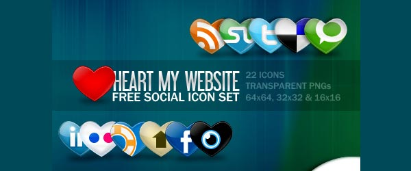 fsmis 01 30 Free Social Media Icon Sets For Bloggers