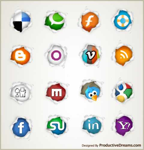 pagepeel preview image 30 Free Social Media Icon Sets For<br /> Bloggers