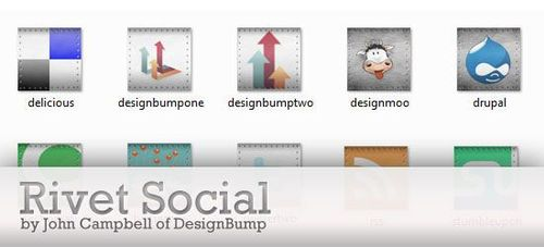 rivet social leading 30 Free Social Media Icon Sets For Bloggers