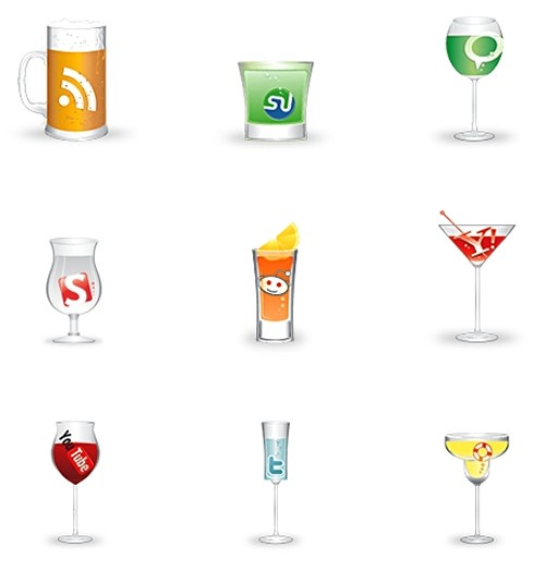 social glasses icon set 30 Free Social Media Icon Sets For<br /> Bloggers