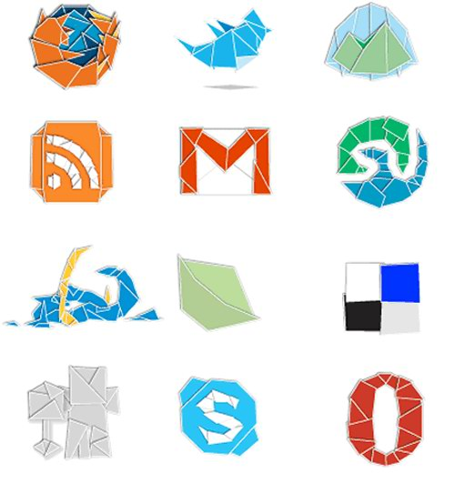 web 2 origami 30 Free Social Media Icon Sets For Bloggers