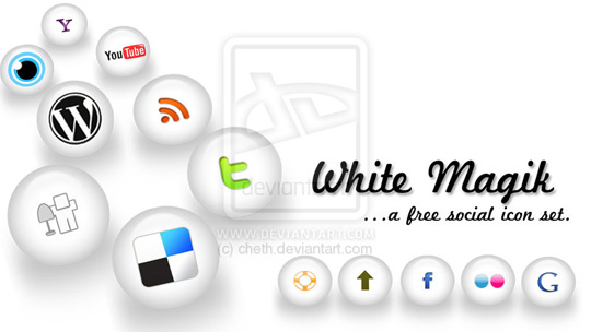 whitemilky 30 Free Social Media Icon Sets For Bloggers